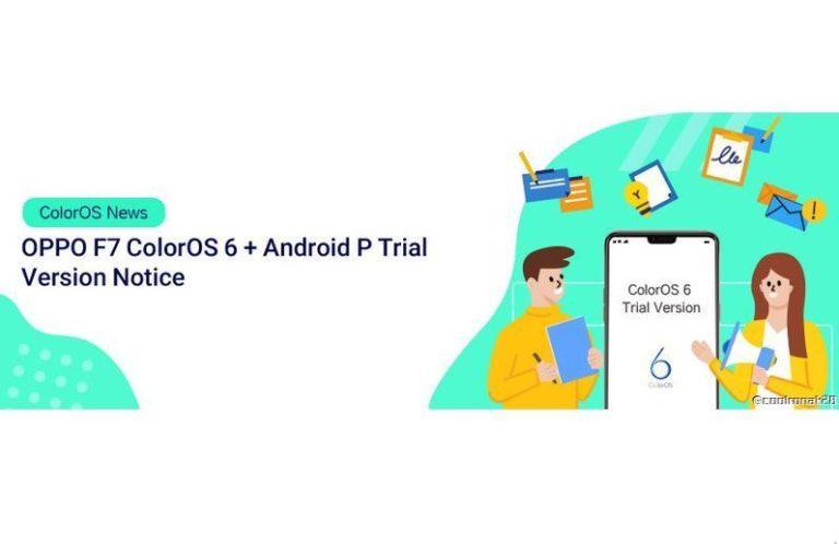 Oppo F7 ColorOS 6 Android P Beta Version