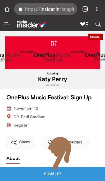 How to get Oneplus Music Festival Tickets