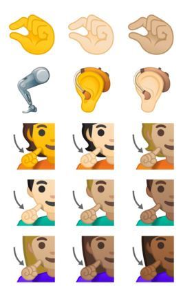 Android 10 Emojis] Android 10 gets a list of new & updated