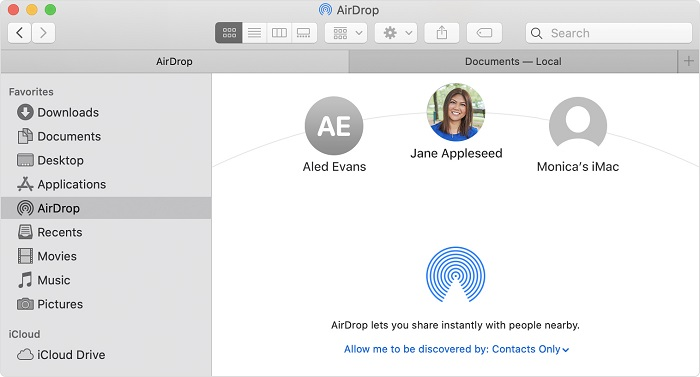 Apple AirDrop for Mac