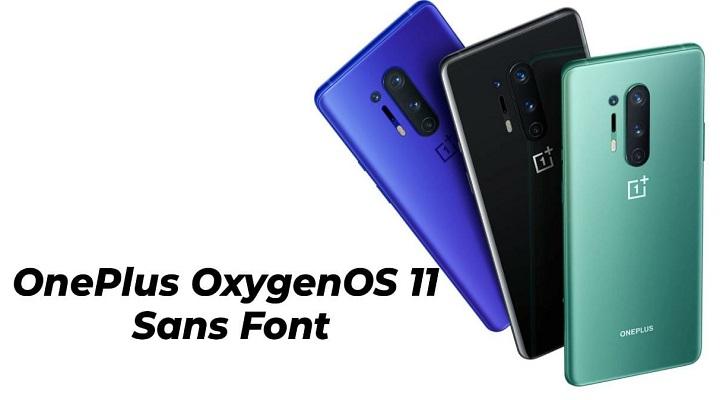 OnePlus OxygenOS 11 Sans Text