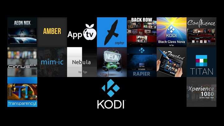 RAM optimized Kodi Skins