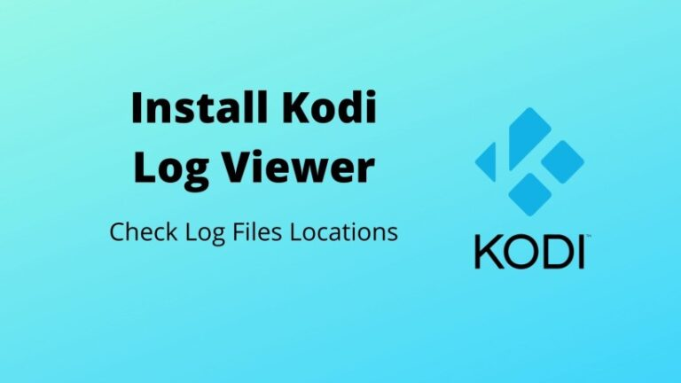 Install Kodi Log Viewer