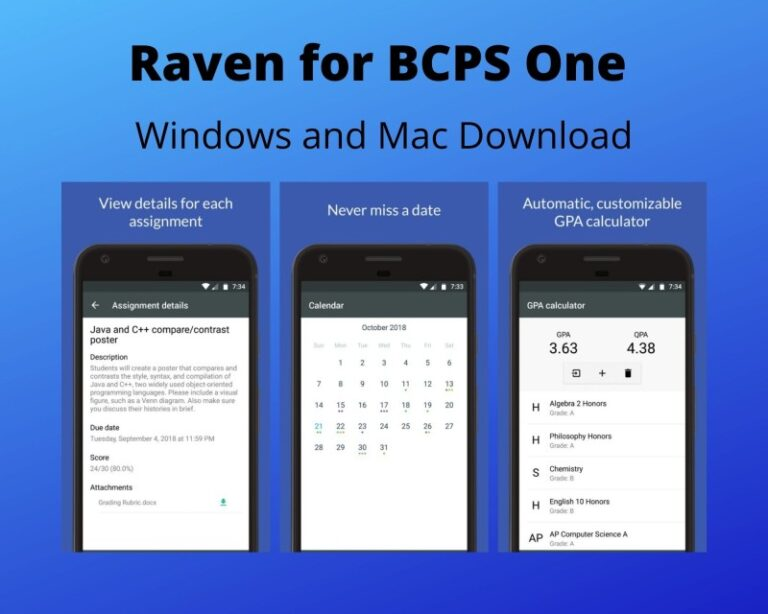 Raven for BCPS One PC Download