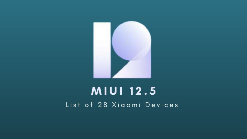 28 device to receive MIUI 12.5