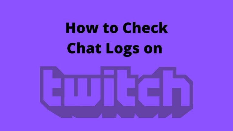 How to Check Chat Logs on Twitch