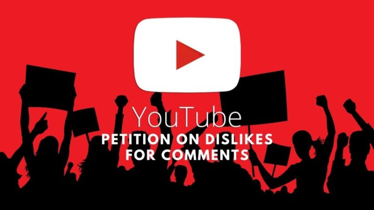 Petition on dislike comments of YouTube