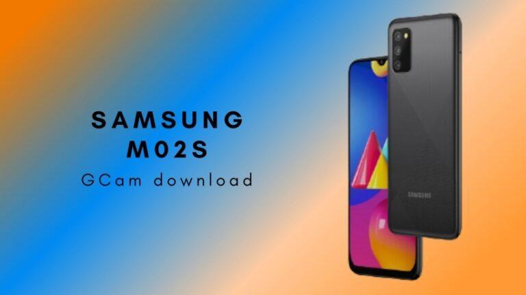 Samsung M02s GCam Download