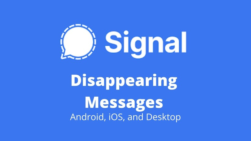 Signal how to use disappearing messages