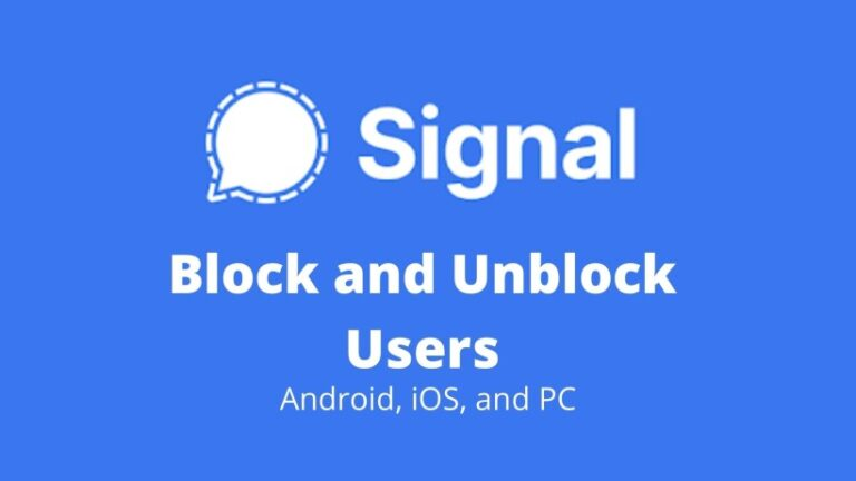 how to block and unblock users in Signal