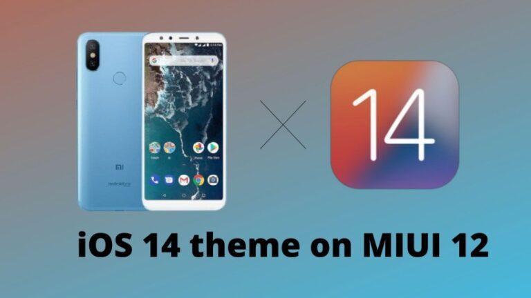 iOS 14 theme on MIUI 12
