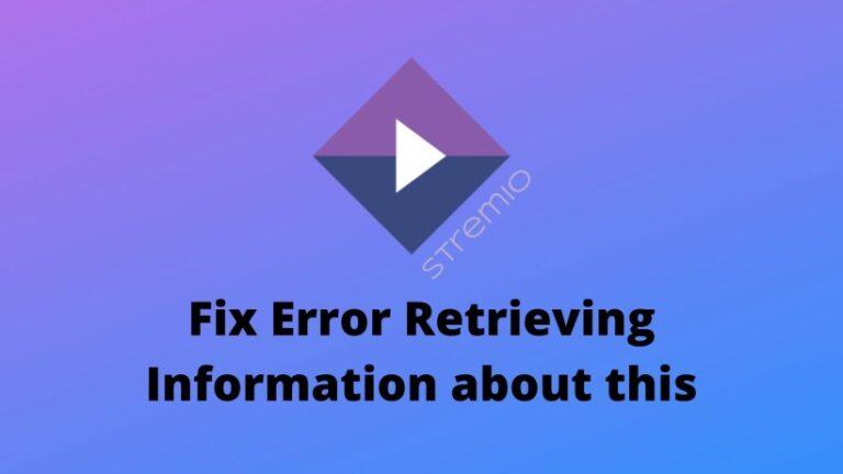 Fix error retrieving information about this Stremio