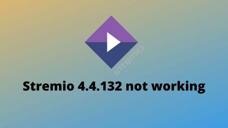 Fix Stremio 4.4.132 not working