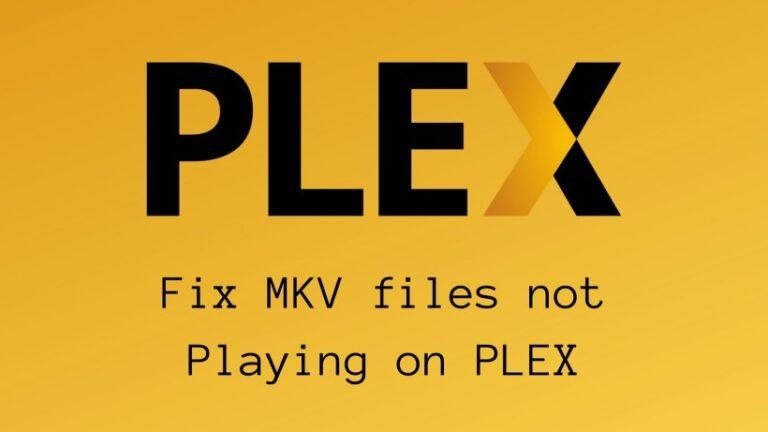Fix MKV files not Playing on PLEX