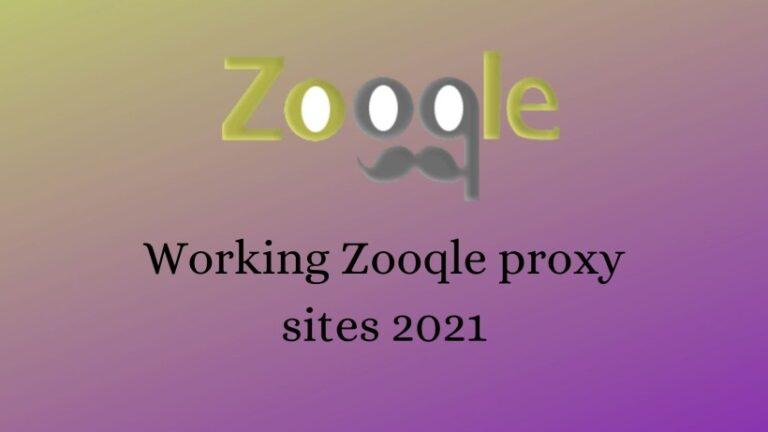 Working Zooqle proxy sites 2021