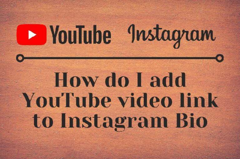 Add YouTube video link to Instagram Bio