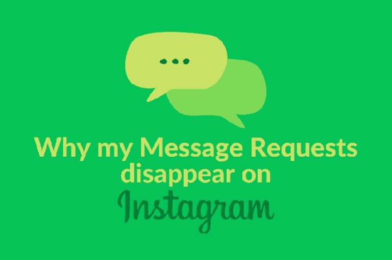 Message Requests disappear on Instagram